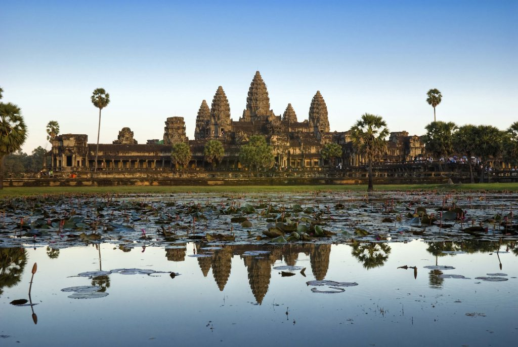 <p class=blog-cap>CAMBODIA // Cambodia is full of history and offers spectacular food and wonderful people. You won't want to miss Angkor Wat. This temple was built by Suryavarman and is considered the biggest Asian pyramid. It is over 200 feet high and divided into several layers.</p>